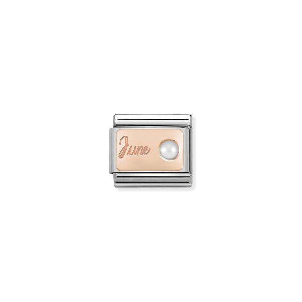 Charm Link NOMINATION Pedra mês Junho (Pérola branca) 430508-06