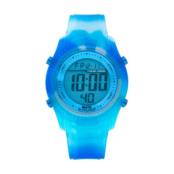 Bracelete WATX Silicone Smart Tie Dye Azul COWA3031