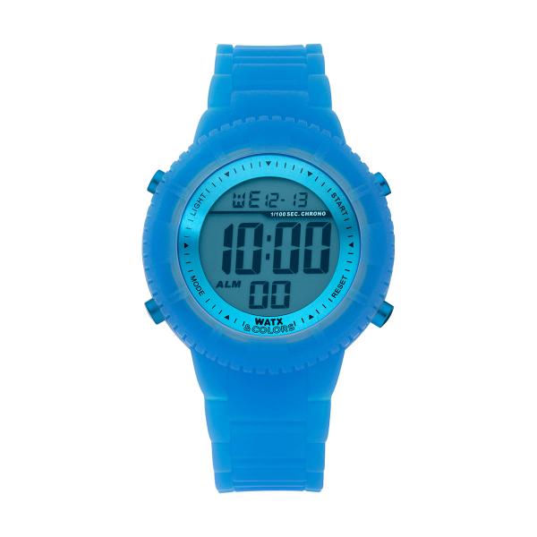 Bracelete WATX Silicone Original Glow Azul COWA1029