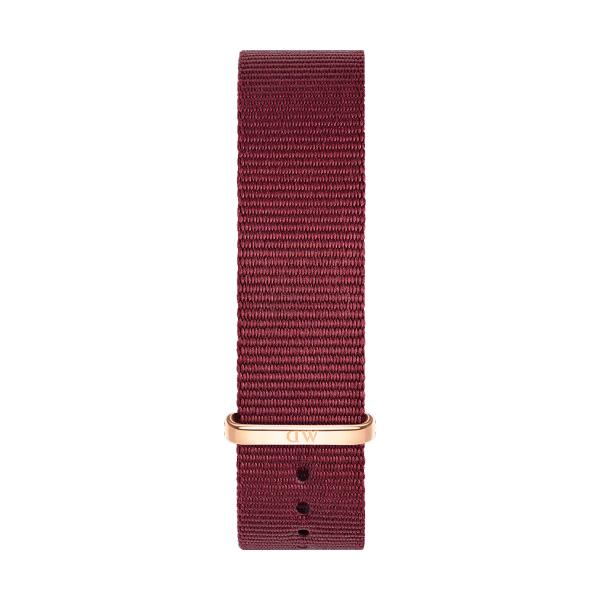 Bracelete DANIEL WELLINGTON Tecido Nato Roselyn Bordeaux DW00200211