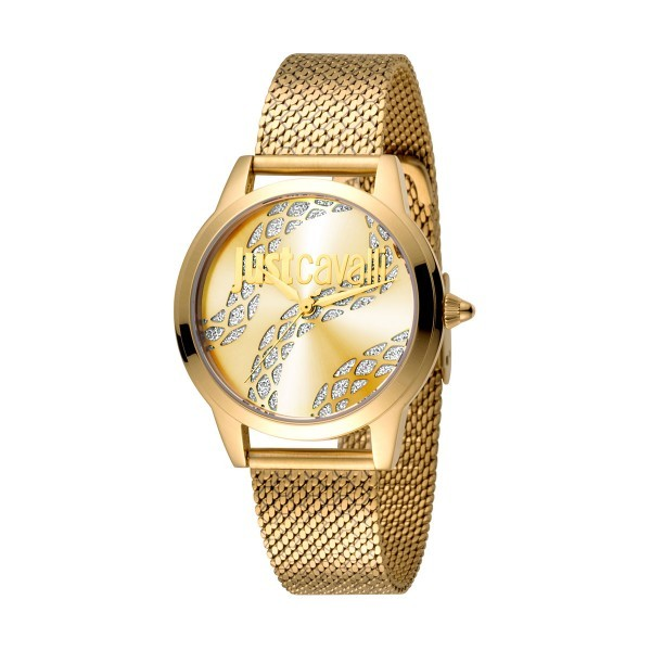 Relógio JUST CAVALLI  Logo Dourado JC1L050M0265