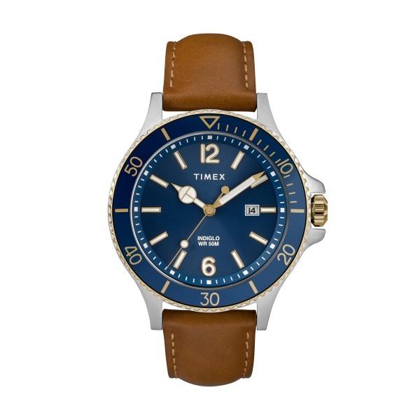 Relógio TIMEX Harborside Azul e Camel TW2R64500