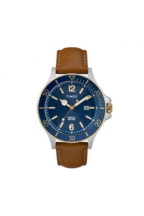 Relógio TIMEX Harborside Azul e Camel