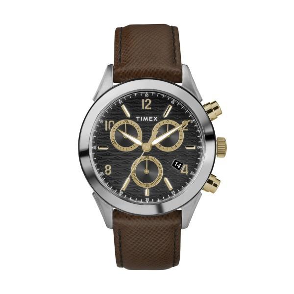Relógio TIMEX Torrington Chrono Preto e Castanho TW2R90800