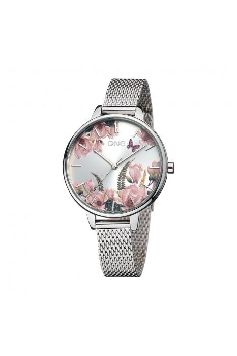 Relógio ONE Winter Blossom Prateado