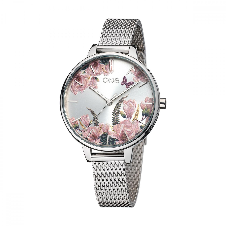 6d7a7532952 Relógio ONE Winter Blossom Prateado - OL0454FM82W