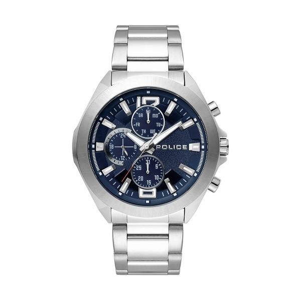 Relógio POLICE Metal Prateado P15366JS03M