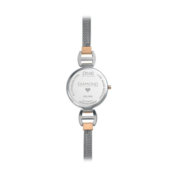 Relógio ONE Diamond Prateado OL8184RS81L