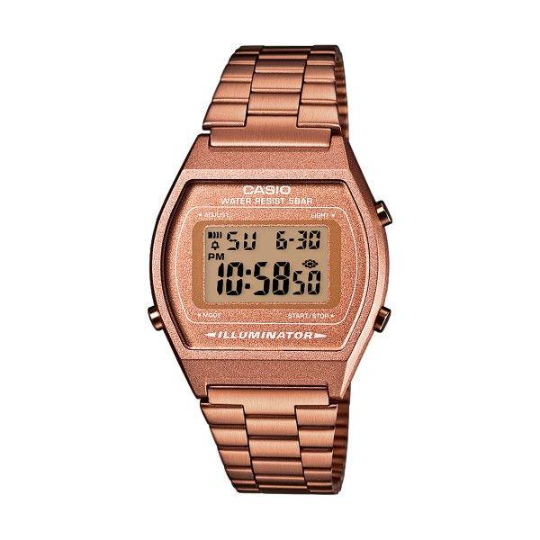 Relógio CASIO Vintage Edgy Ouro Rosa B640WC-5AEF