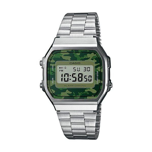 Relógio CASIO CC Retro Prateado A168WEC-3EF