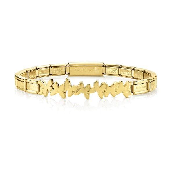 Pulseira NOMINATION Trendsetter Borboletas Dourada 021111-003