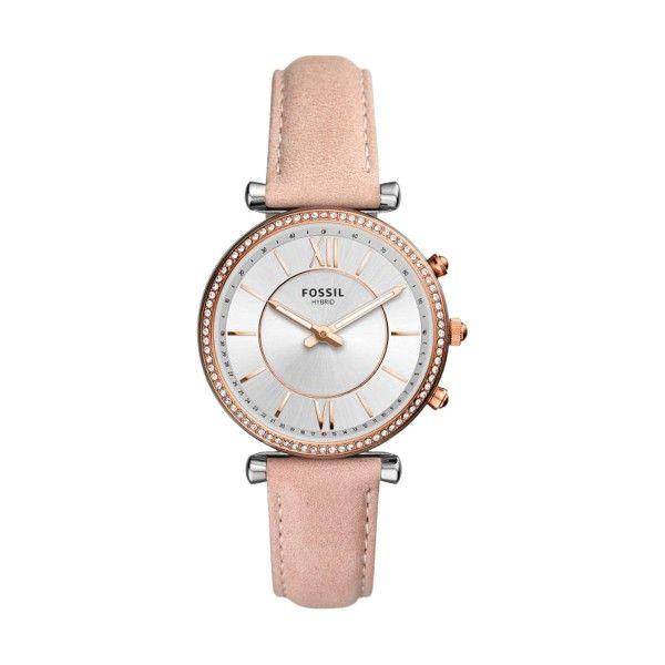 Relógio Inteligente FOSSIL Q Carlie Hybrid Rosa (Smartwatch) FTW5039