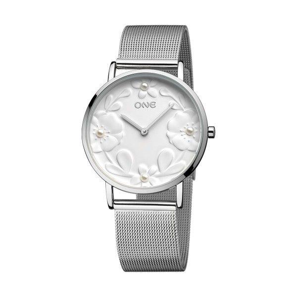 Relógio ONE Pearl Prateado OL8215BS91L