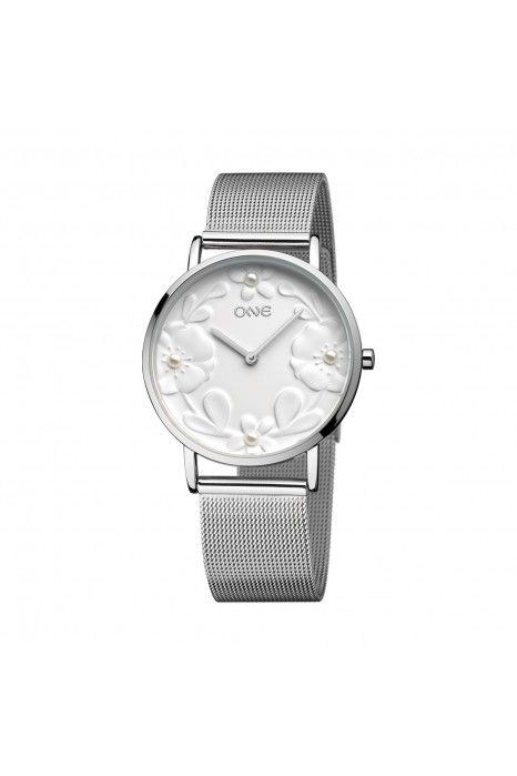 Relógio ONE Pearl Prateado