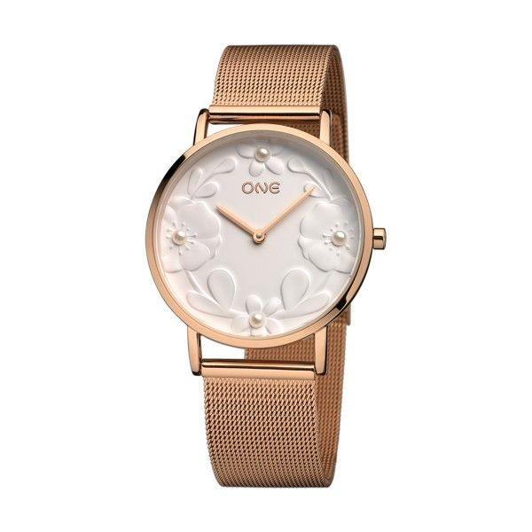 Relógio ONE Pearl Ouro Rosa OL8215BR91L