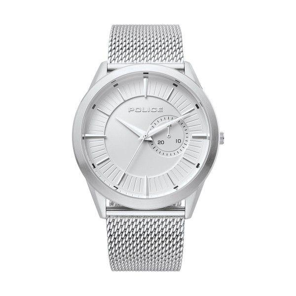 Relógio POLICE Helder Prateado P15919JS04MM