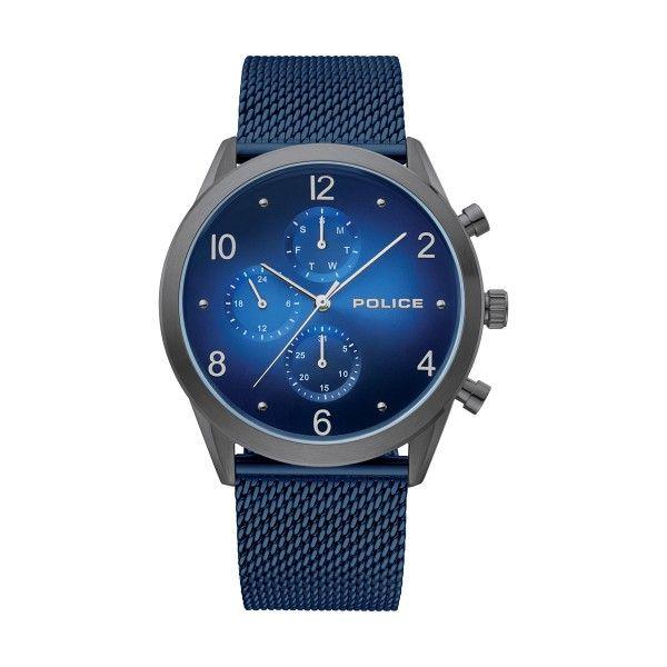 Relógio POLICE Silfra Azul P15922JSU03MMBL