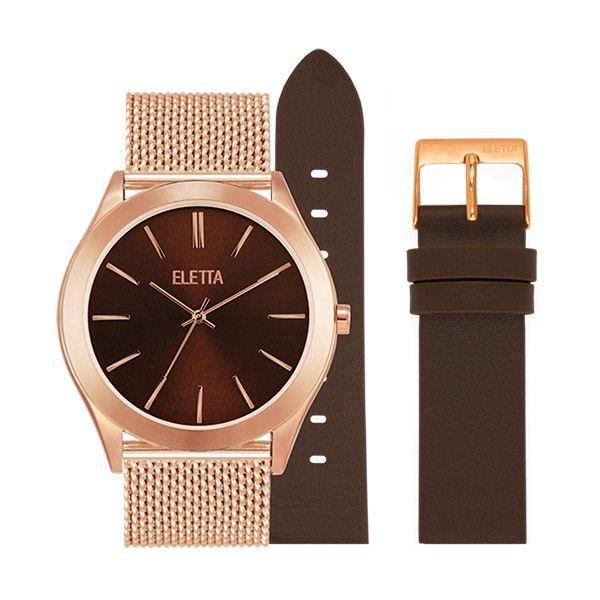 Relógio ELETTA Essence Ouro Rosa ELA431LCMRX