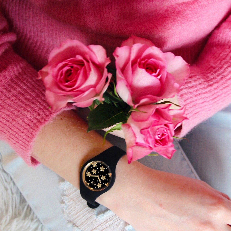 Relógio ICE Flower Preto