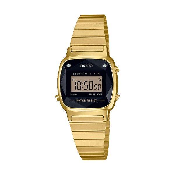 Relógio CASIO Diamond Vintage Dourado LA670WEGD-1EF
