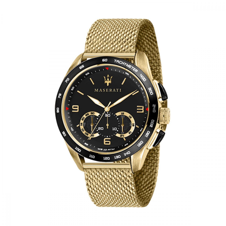 Relógio MASERATI Traguardo Dourado
