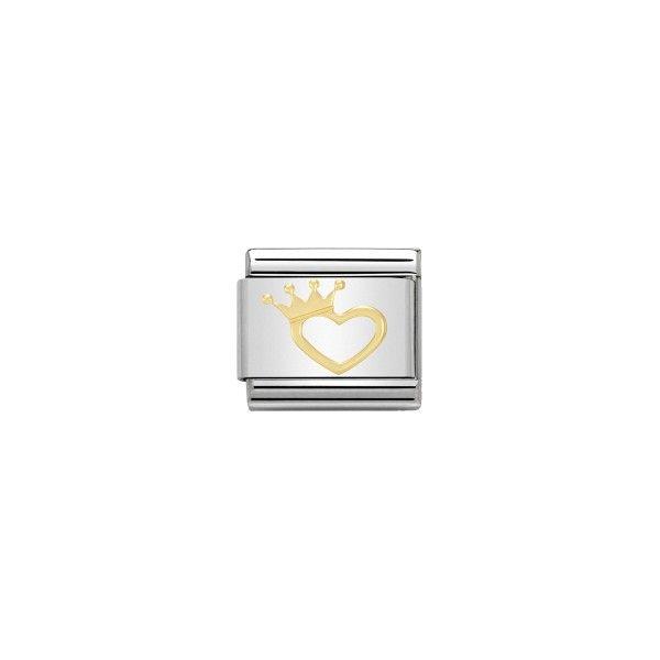 Charm Link NOMINATION Coração Coroa 030116-17