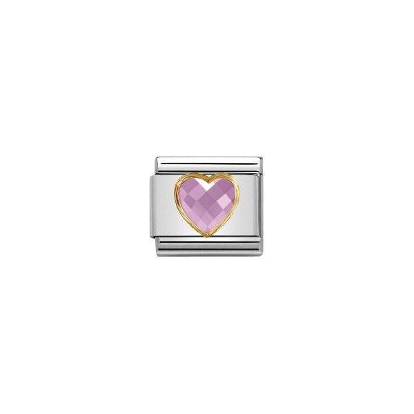 Charm Link NOMINATION Coração Cor de Rosa 030610-003