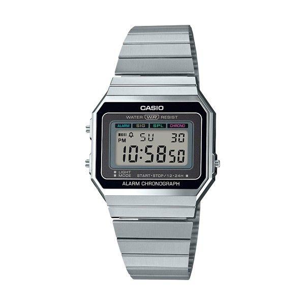 Relógio CASIO Vintage Edgy Prateado A700WE-1AEF
