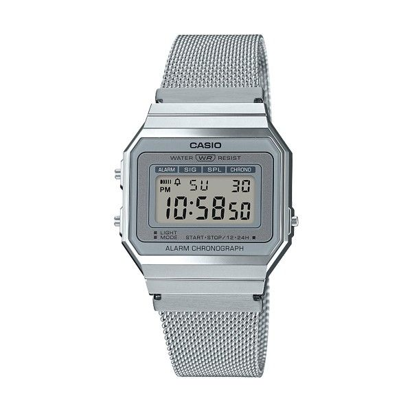 Relógio CASIO Vintage Edgy Prateado A700WEM-7AEF