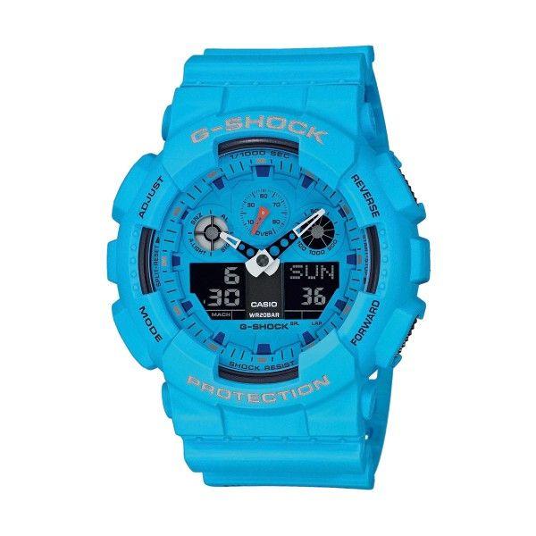 Relógio CASIO G-SHOCK Classic Azul GA-100RS-2AER