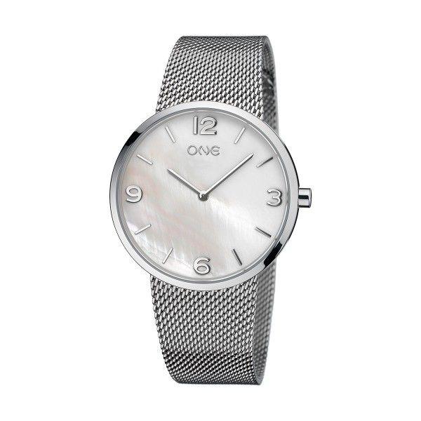 Relógio ONE Retro Prateado OL7729BG81L