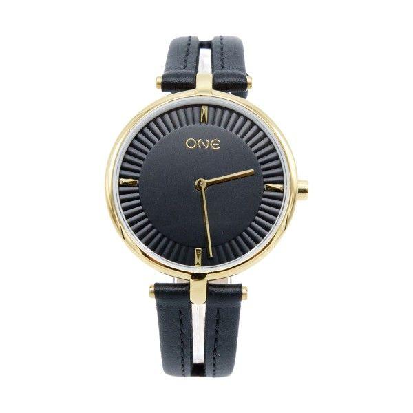 Relógio ONE Leather Concept Preto OL8128PP82L