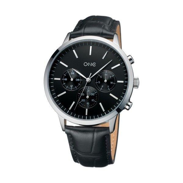 Relógio ONE Solidity Preto OG7761PP91B