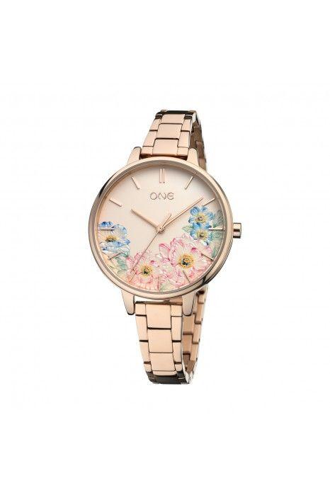 Relógio ONE Summer Blossom Ouro Rosa