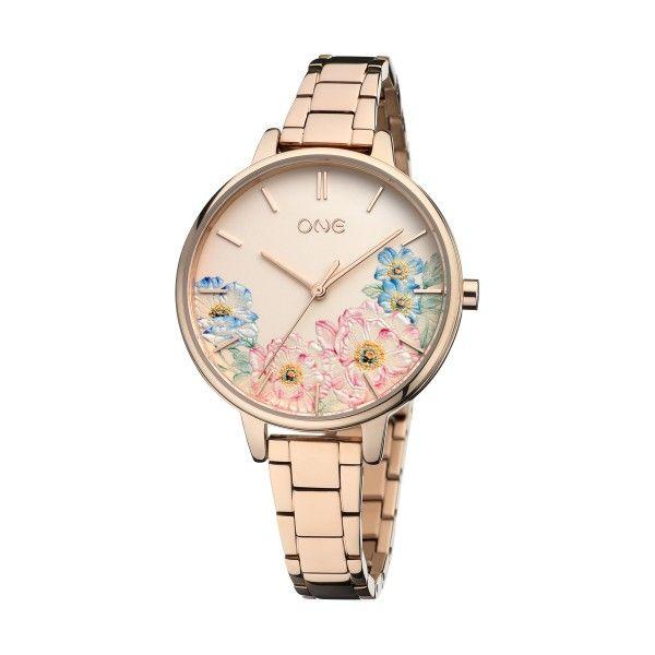 Relógio ONE Summer Blossom Ouro Rosa OL0076RR91W