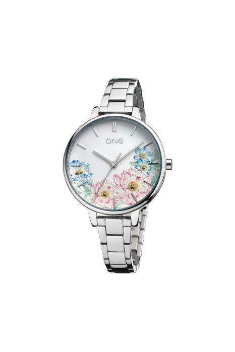Relógio ONE Summer Blossom Prateado
