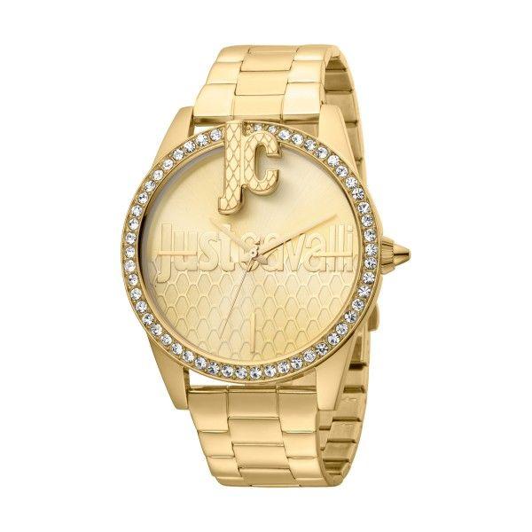 Relógio JUST CAVALLI TIME Logo XL Dourado JC1L100M0085