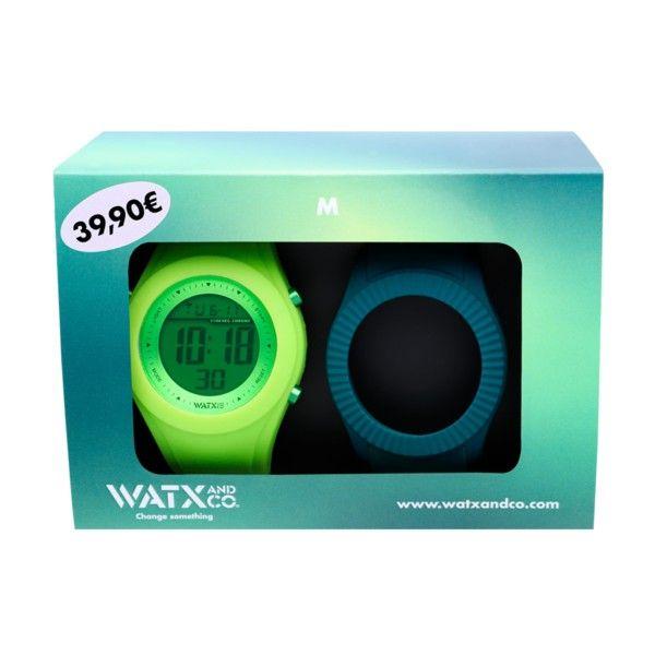 Box Relógios WATX M5 Verde/Azul WACOMBOM5