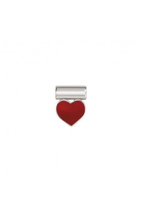 Pendente NOMINATION Seimia, Prata 925, Coração vermelho