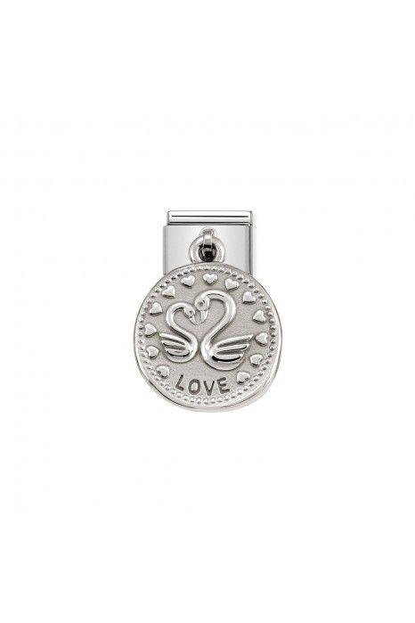 Charm Link NOMINATION, Prata 925, Medalha Wishes Amor