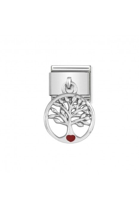 Charm Link NOMINATION, Prata 925, Pendente Árvore Da Vida