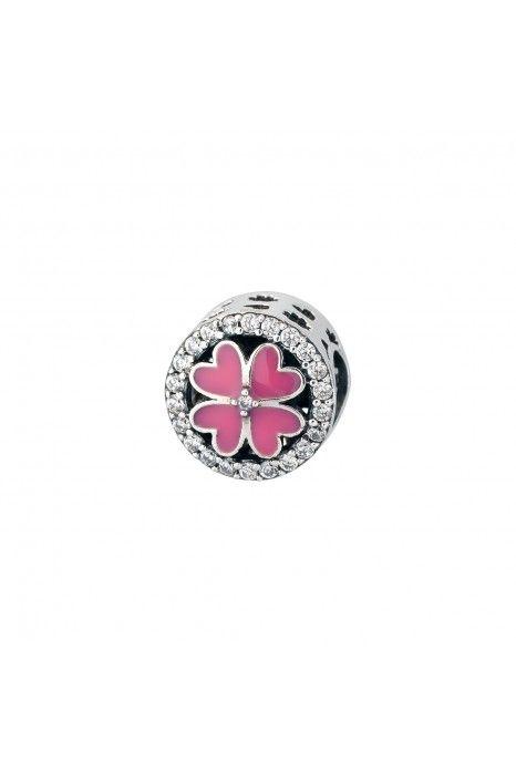 Conta SILVERADO Com Pedras Lucky Pink