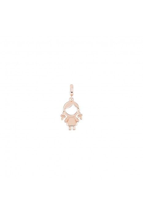 Charm BOW HAPPY Love Stories Girl Rose Gold