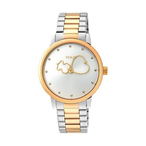 Relógio TOUS Bear Time Bicolor Dourado 900350310