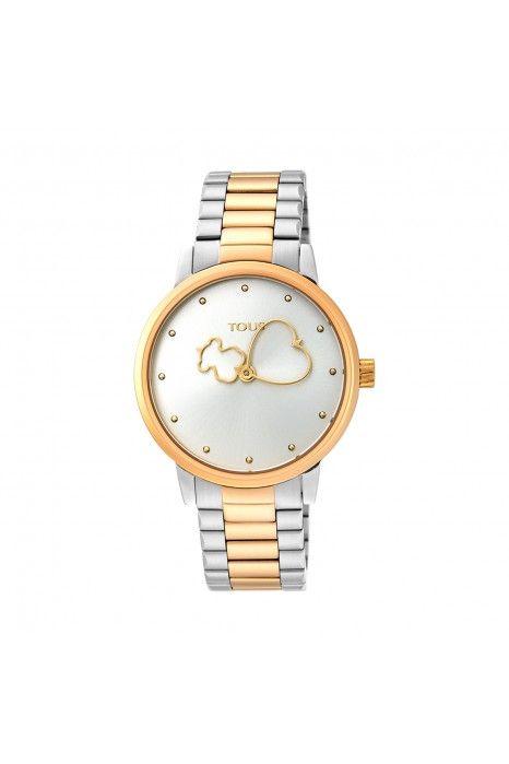 Relógio TOUS Bear Time Bicolor Dourado