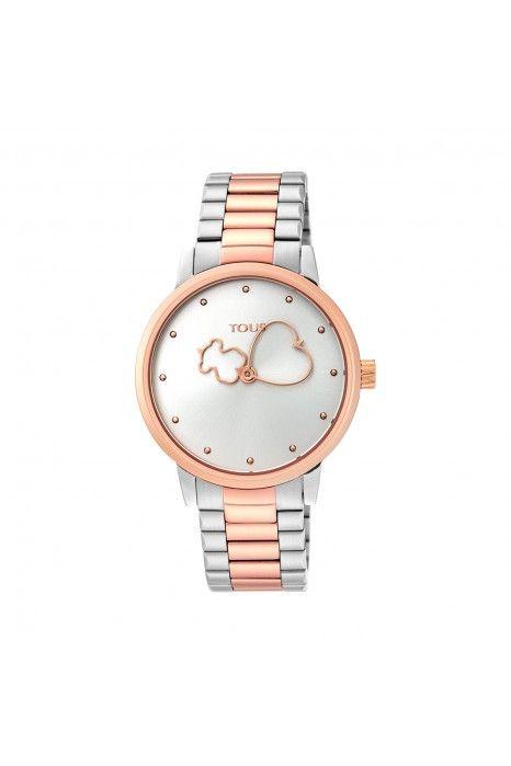 Relógio TOUS Bear Time Bicolor Ouro Rosa