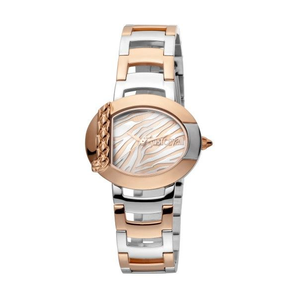 "Relógio JUST CAVALLI TIME ""C"" By JC Bicolor Ouro Rosa JC1L109M0085"