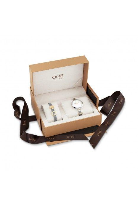 Relógio ONE Energy Plus Box Set Prateado (Pulseira 16 cm)