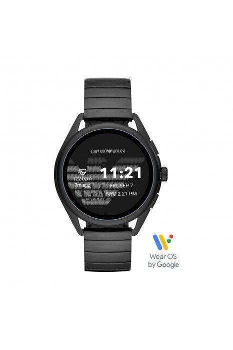 Relógio Inteligente EMPORIO ARMANI Matteo Preto (Smartwatch)