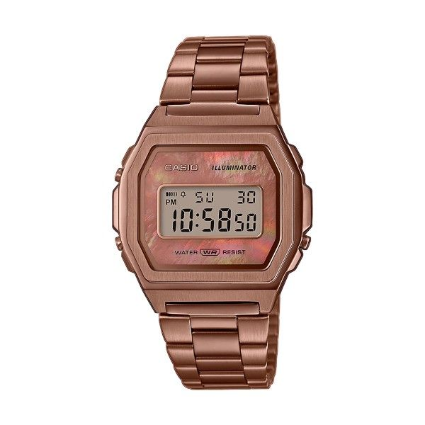 Relógio CASIO Vintage Premium Ouro Rosa A1000RG-5EF